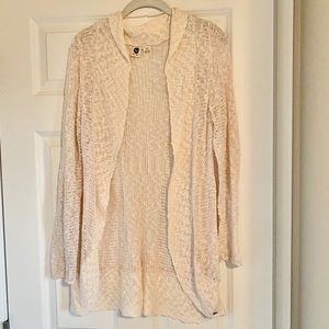 ROXY long cream knit cardigan